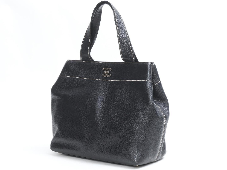 f39a20f5452c Lyst - Chanel Caviar Skin 2way Shoulder Bag Tote Bag Caviar Skin ...
