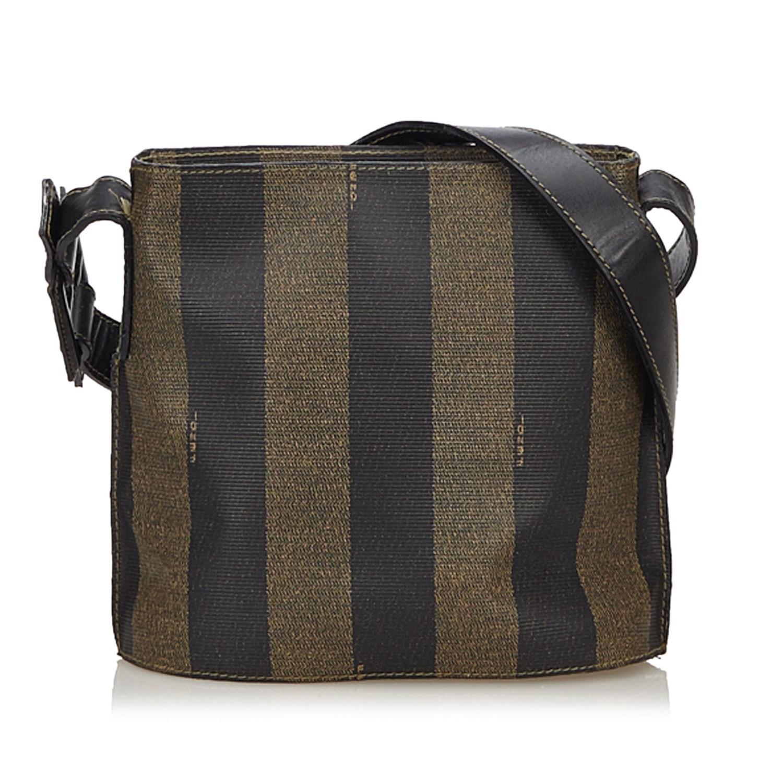 428d1a133a Lyst - Fendi Pequin Crossbody Bag in Brown