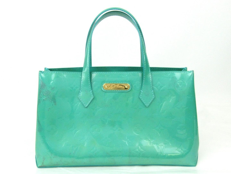 3b0b1ac53e90 Lyst - Louis Vuitton Auth Wilshire Pm Handbag Monogram Vernis Blue ...