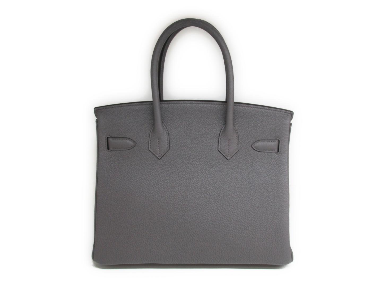 a44264840f78 Lyst - Hermès Birkin 30 Handbag Totebag Togo Leather Etain Grey in Gray