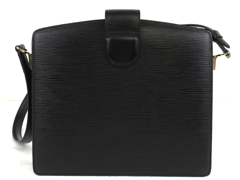77b028f15bf0 Lyst - Louis Vuitton Auth Epi Capucines Shoulder Bag M52342 Black in ...