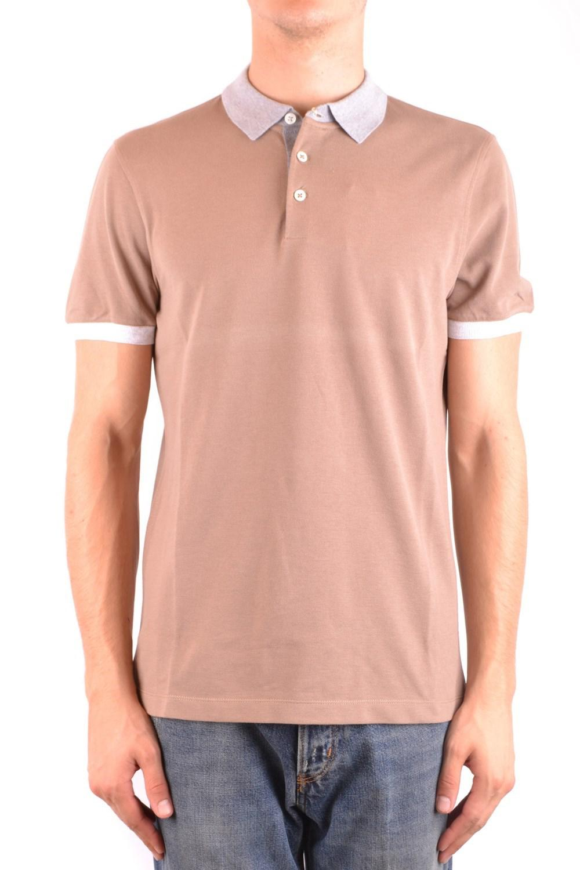 74549770d Lyst - Brunello Cucinelli Men's Mcbi053120o Beige Cotton Polo Shirt ...