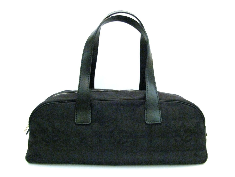 163c442b33ba Lyst - Chanel New Travel Line Mini Boston Hand Bag Black Nylon ...