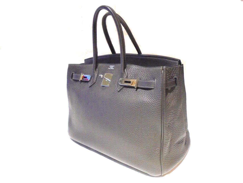 ade5a21eb85f Lyst - Hermès Birkin 35 Handbag Totebag Clemence Leather Graphite ...
