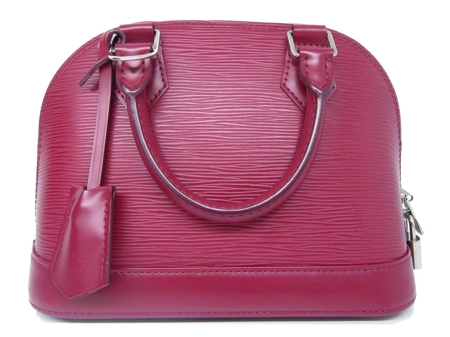 defa3b4405d7 Lyst - Louis Vuitton Epi Alma Bb Hand Shoulder Bag Fuchsia M40851 in ...