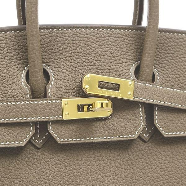32abb610a780 Lyst - Hermès Birkin 25 Togo Etoupe Gold Hardware A Marking in Gray