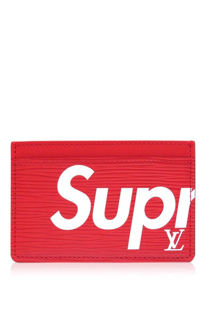 9cb53c28f633 Lyst - Louis Vuitton M67712 Supreme Card Case Porte Carte Simple ...