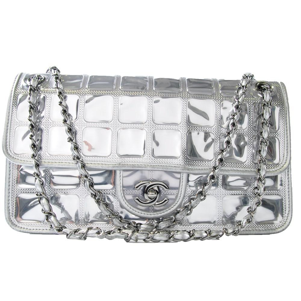 e5d89129329d Chanel Transparent Ice Cube Flap Bag in Metallic - Lyst