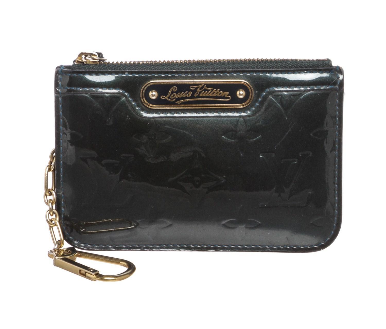 e71f1d8aee7a Lyst - Louis Vuitton Green Monogram Vernis Leather Pochette Cles Key ...