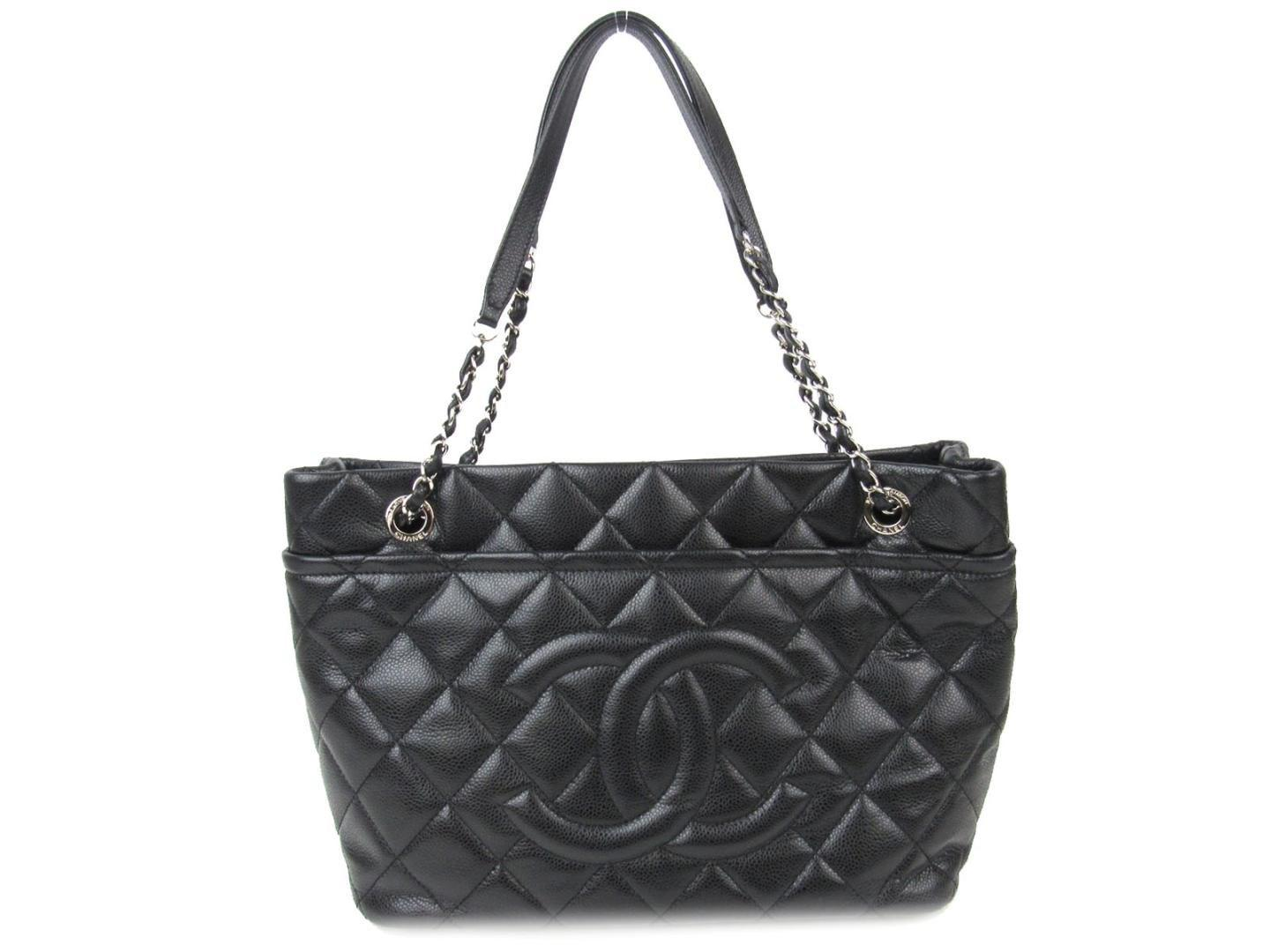 Lyst - Chanel Cc Shoulder Bag A 67291 Caviar Skin Chain Tote Leather ... 7722bf5df3ba1