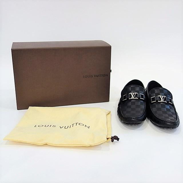 80ac99d1b9f Lyst - Louis Vuitton Damier Infini Hockenheim Men s Shoes Loafer ...
