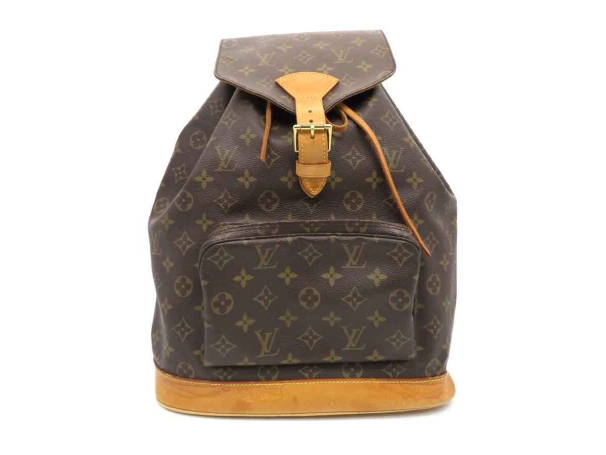 Lyst - Louis Vuitton Montsouris Gm Backpack M51136 Monogram Brown ... 5f750612e28b2