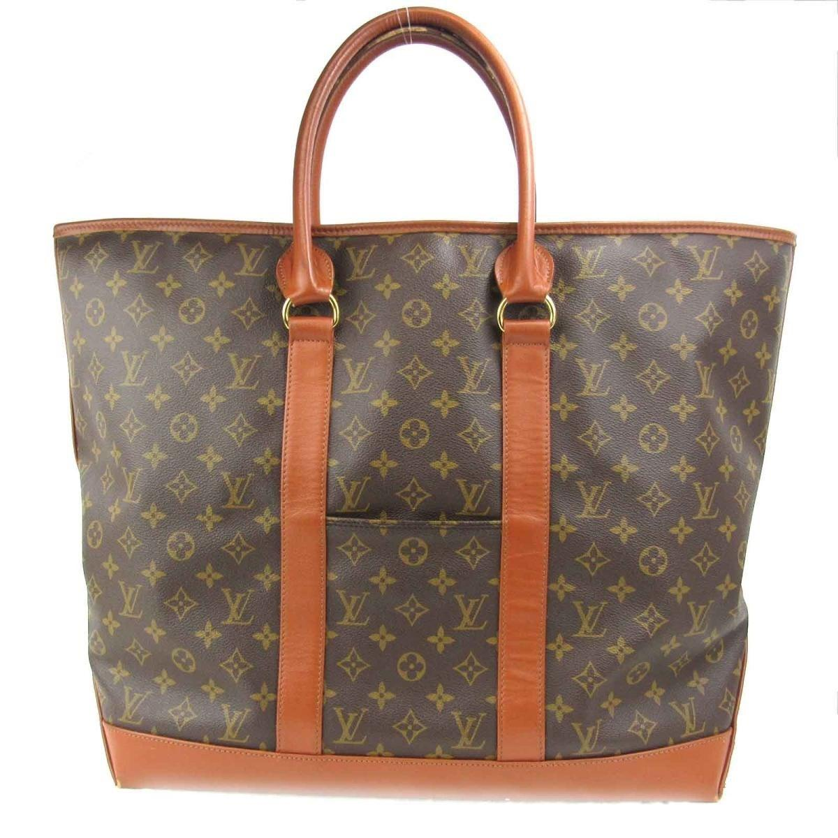 957dd805b Louis Vuitton. Men's Brown Authentic Weekend Gm Tote Bag Monogram Canvas  Used Vintage M42420