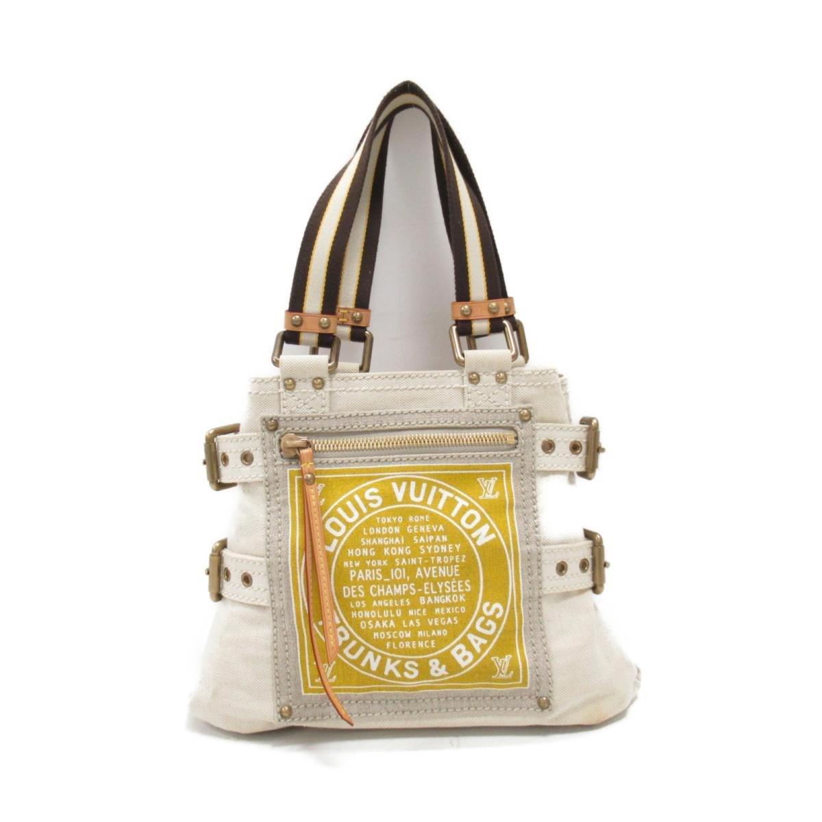 6d0ba1b8d31c Lyst - Louis Vuitton Auth Globe Shopper Pm Tote Bag M95116 Cotton ...