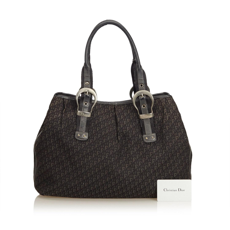 e60853d65a1b Lyst - Dior Oblique Canvas Tote Bag in Black
