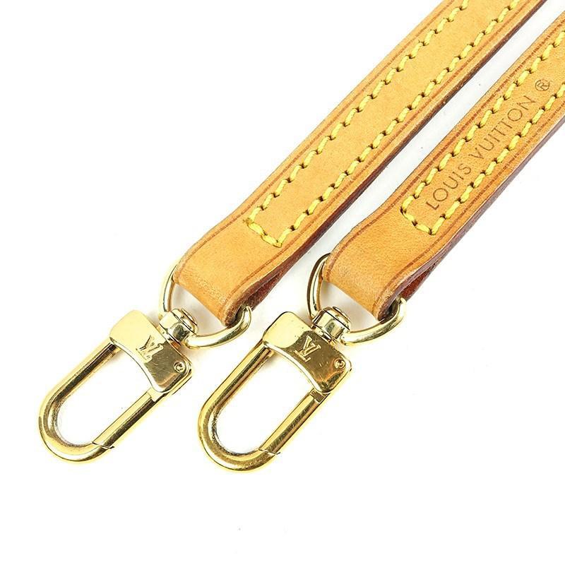4c7ab433157b Lyst - Louis Vuitton Nume Leather Shoulder Strap Brown 120cm J00145 ...