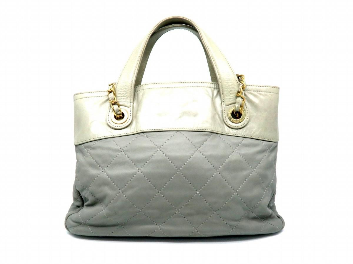 2228a2530347 Lyst Chanel Quilted Calfskin Leather Ghw Shoulder Tote Bag Grey In.  Lightbox. 6100 Chanel 13b Clic Flap Quilted Le Boy Large Black Calfskin