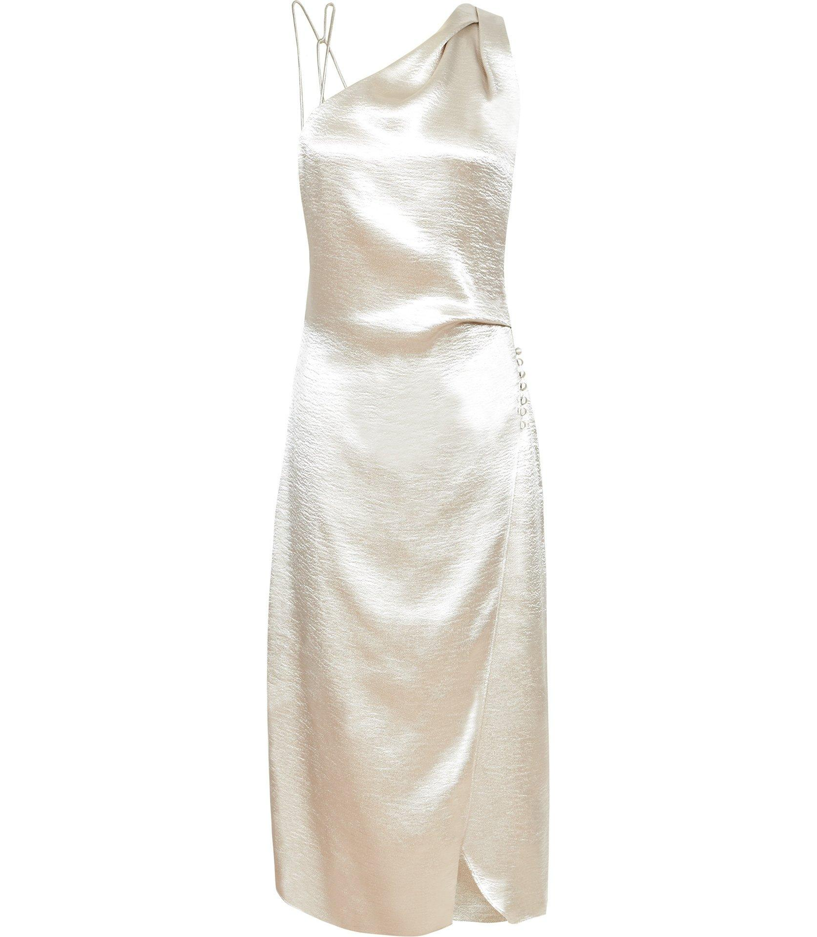 bfb207f37bc Reiss Positano - Strappy Cocktail Dress in Metallic - Save 51% - Lyst