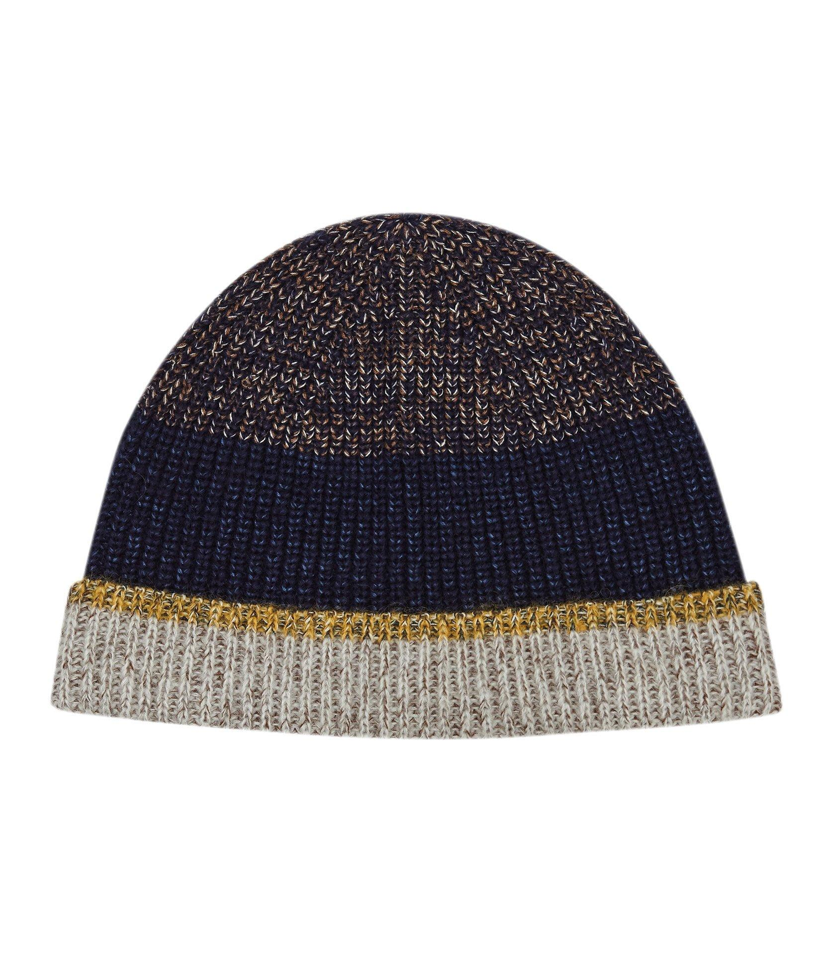 678ed17f462fc Lyst - Reiss Dickens - Colour Block Knitted Hat in Blue for Men