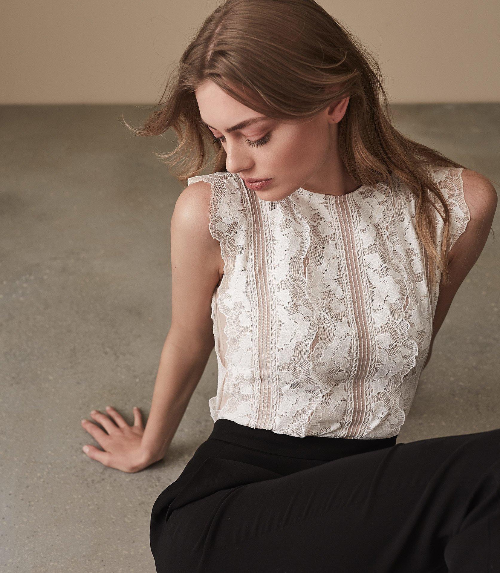 86149e7448f Reiss - Multicolor Suzy - Lace Detail Jumpsuit - Lyst. View fullscreen