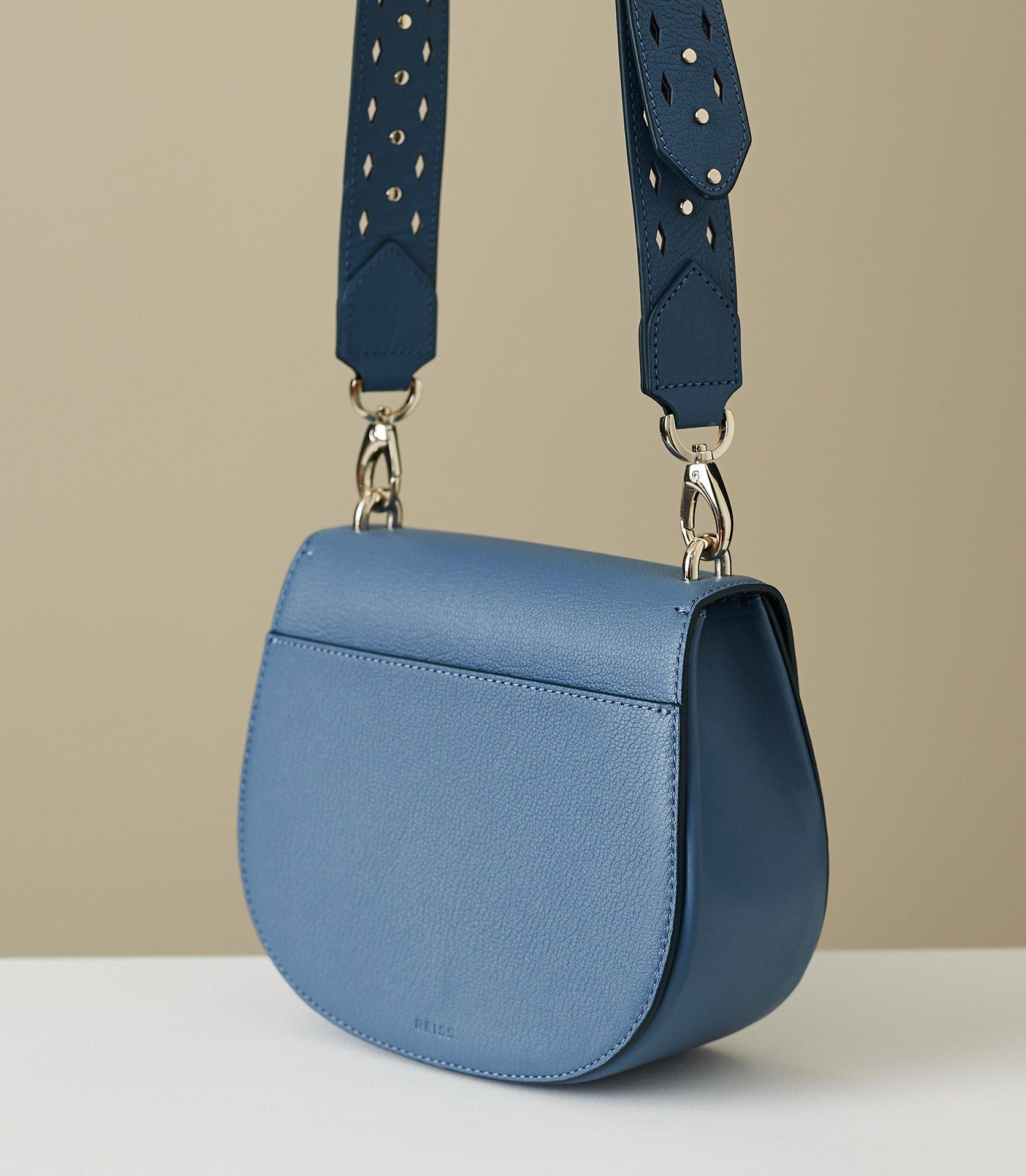 acd460262354 Reiss - Blue Maltby - Leather Cross-body Bag - Lyst. View fullscreen