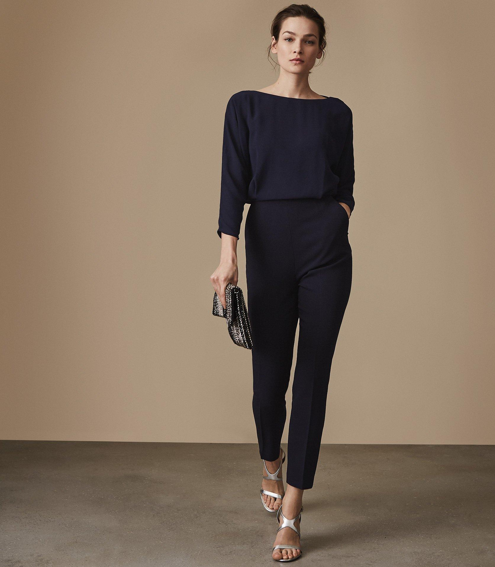 9bb365f3339 Reiss Ania - Open-back Jumpsuit in Blue - Save 67% - Lyst