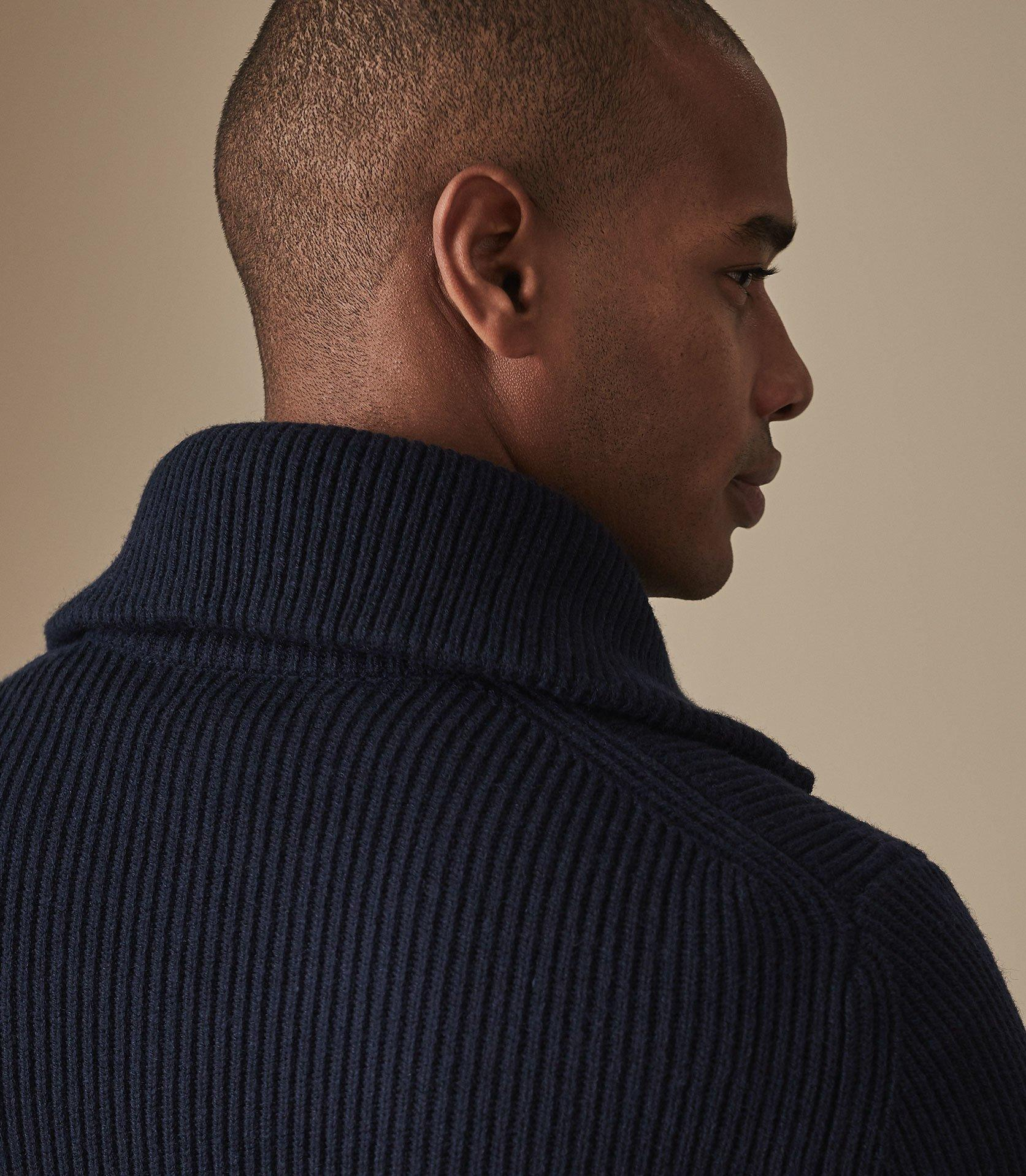 e547e602883e Reiss - Blue Ingleston - Funnel Neck Jumper for Men - Lyst. View fullscreen