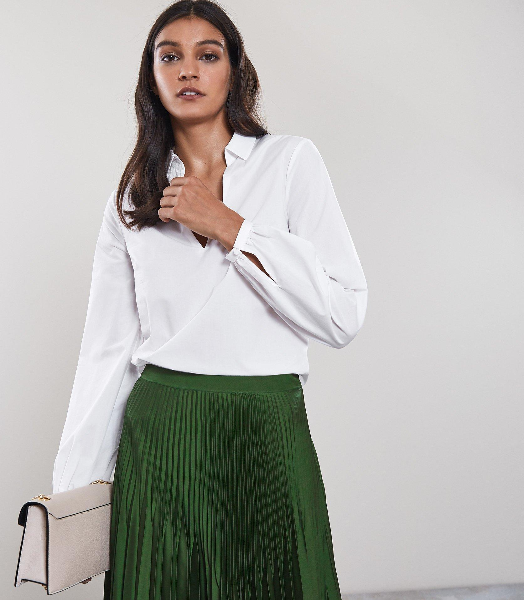 780703d1d0acbc Lyst - Reiss Veronica - Long Sleeved Blouse in White