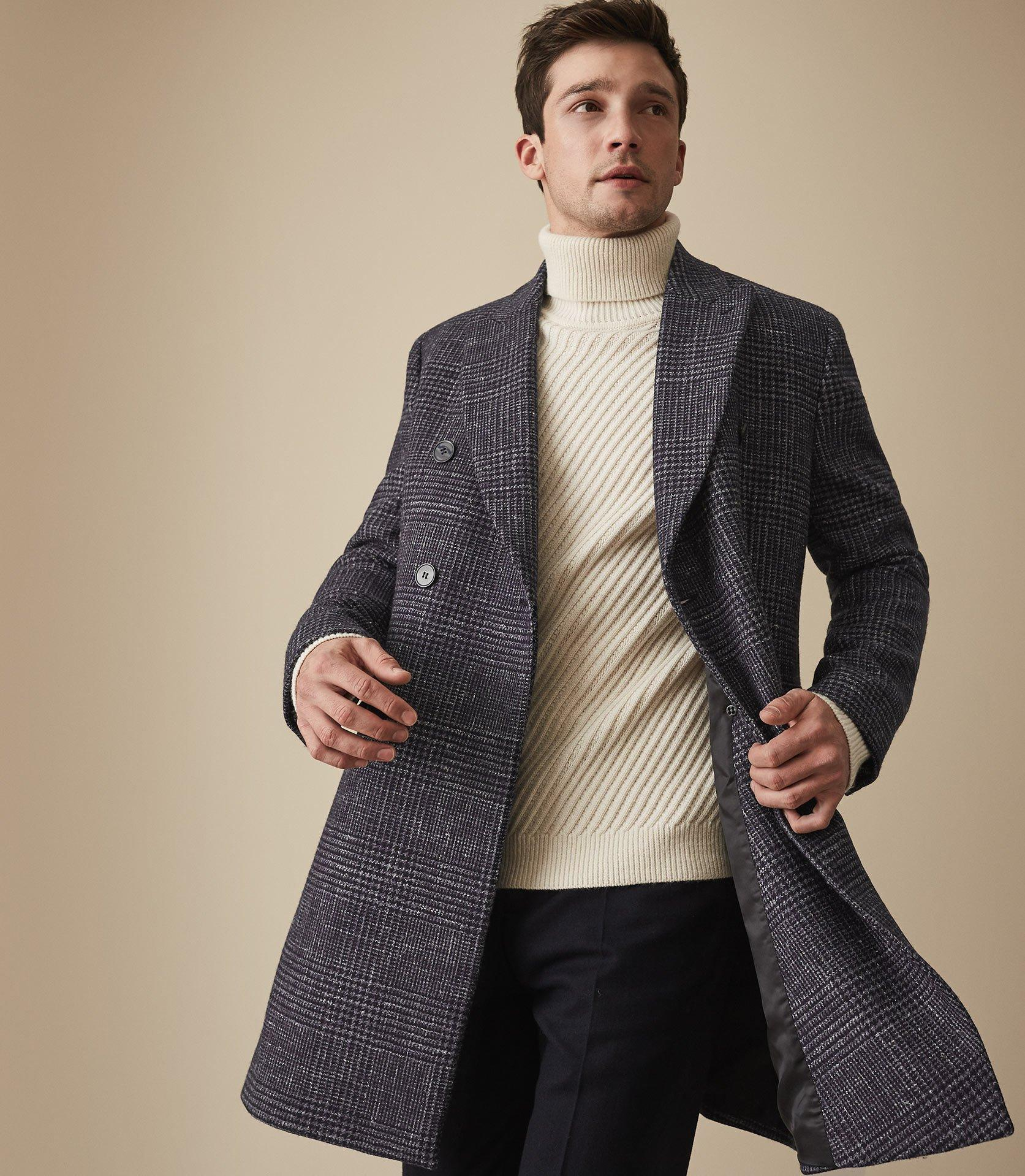 98a16ca58b8 Reiss Francisco - Wool Blend Double Breasted Overcoat in Blue for ...