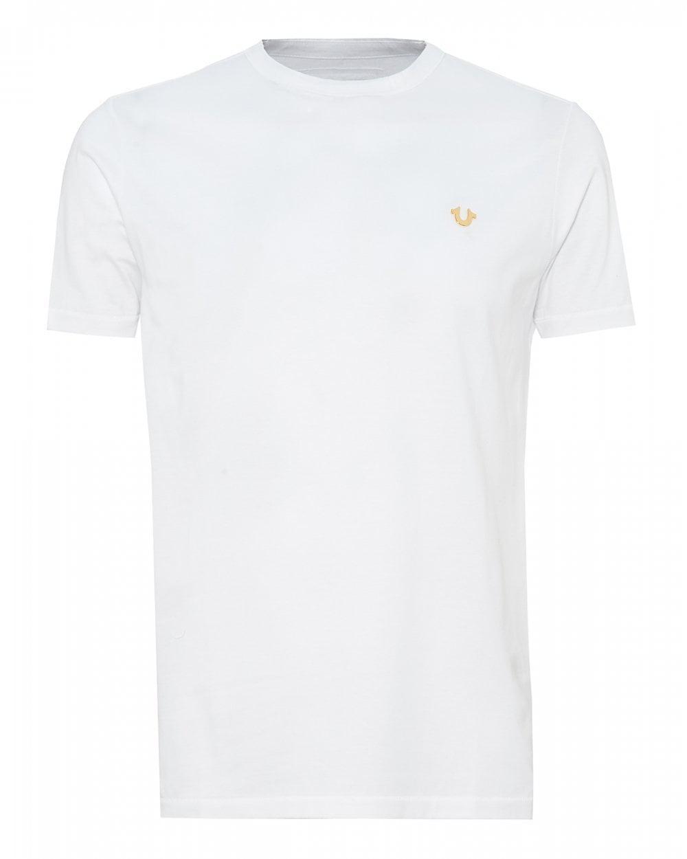 5fa3687e Lyst - True Religion Metal Logo T-shirt, White Slim Fit Tee in White ...
