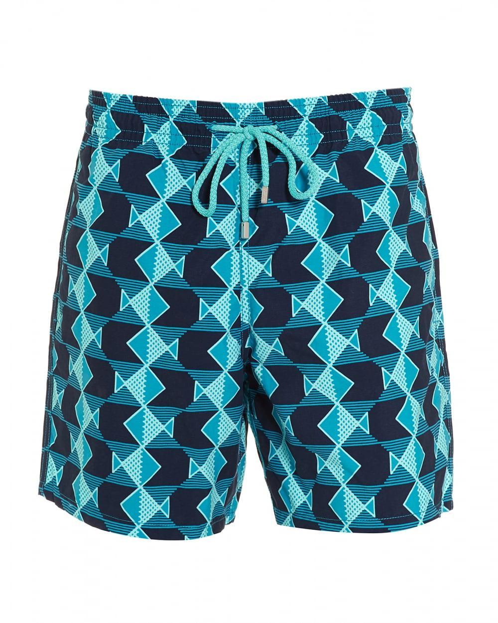 27abbda0f8 Vilebrequin Moorea Graphic Fishes-print Swim Shorts in Blue for Men ...