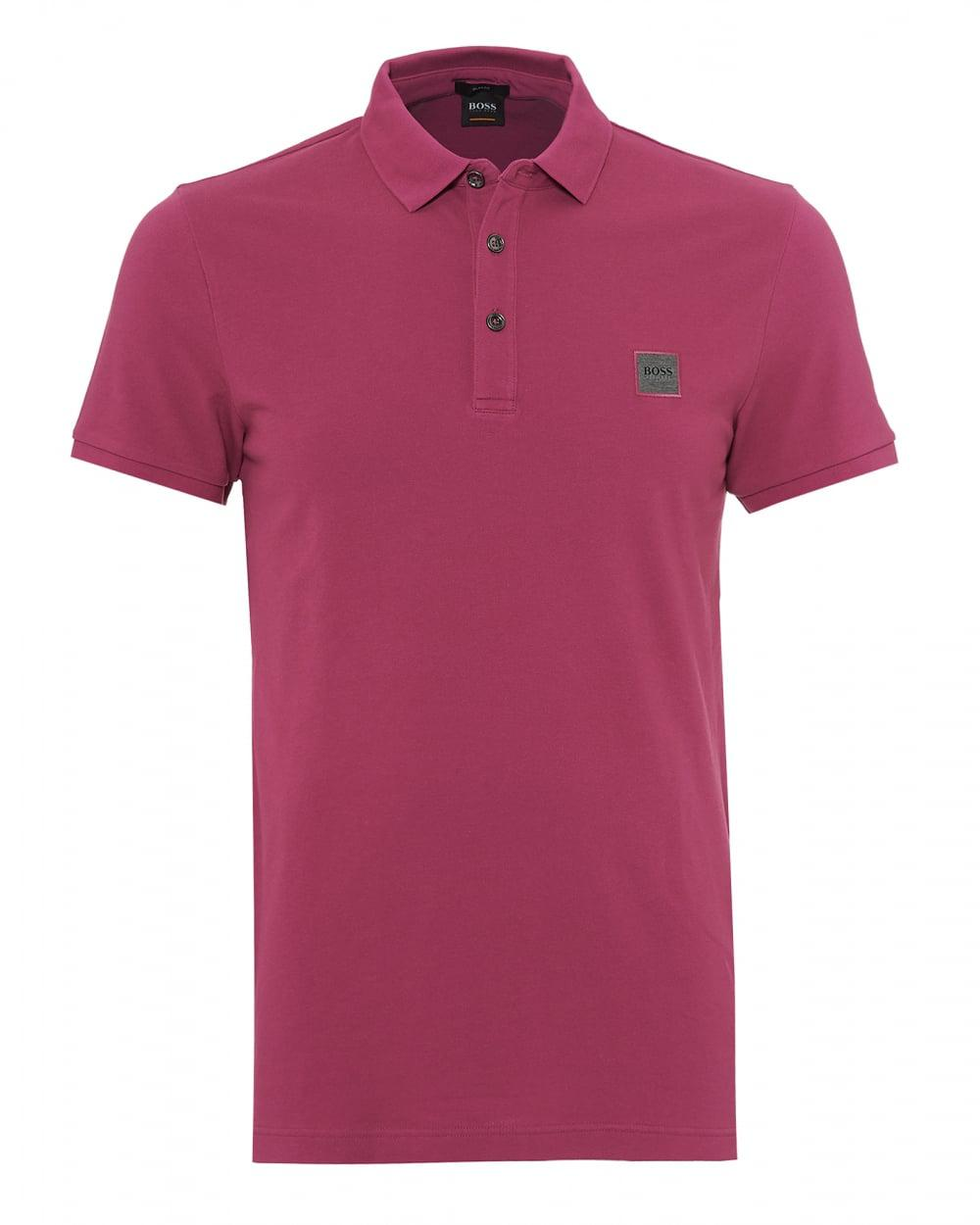 57cba60b Lyst - BOSS Passenger Polo Shirt, Slim Fit Deep Pink Polo in Pink ...