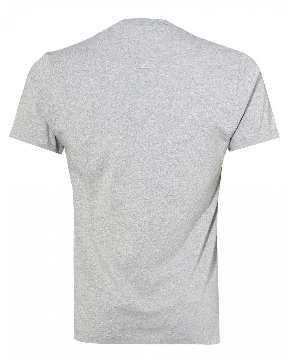 6444a46b90c KENZO Classic Logo T-shirt, Pearl Grey Tee in Gray for Men - Lyst
