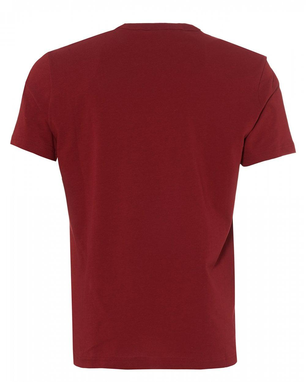 8c40455e Champion Large Script T-shirt, Burgundy Red Crew Neck Tee in Red for Men -  Save 53% - Lyst