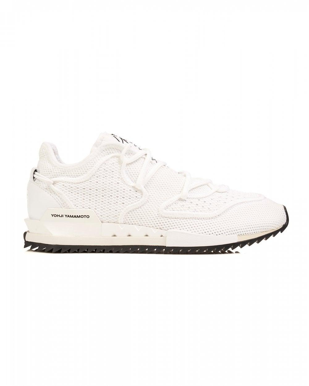 f767ab1e5fd Y-3 White Trainers, Harigane Ii Sneakers in White for Men - Lyst