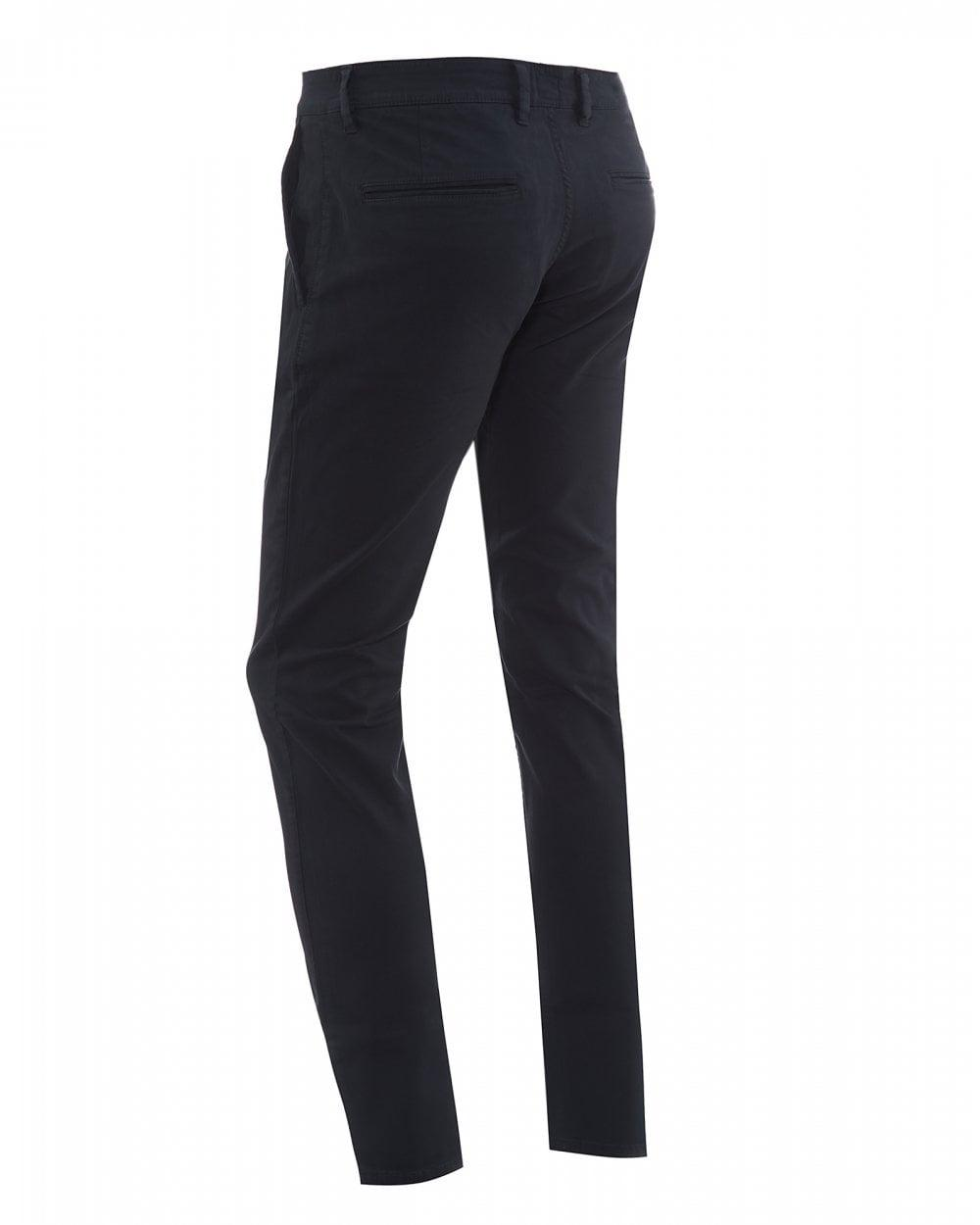 Hugo Boss Slim-fit casual chinos in brushed stretch cotton       RRP £89