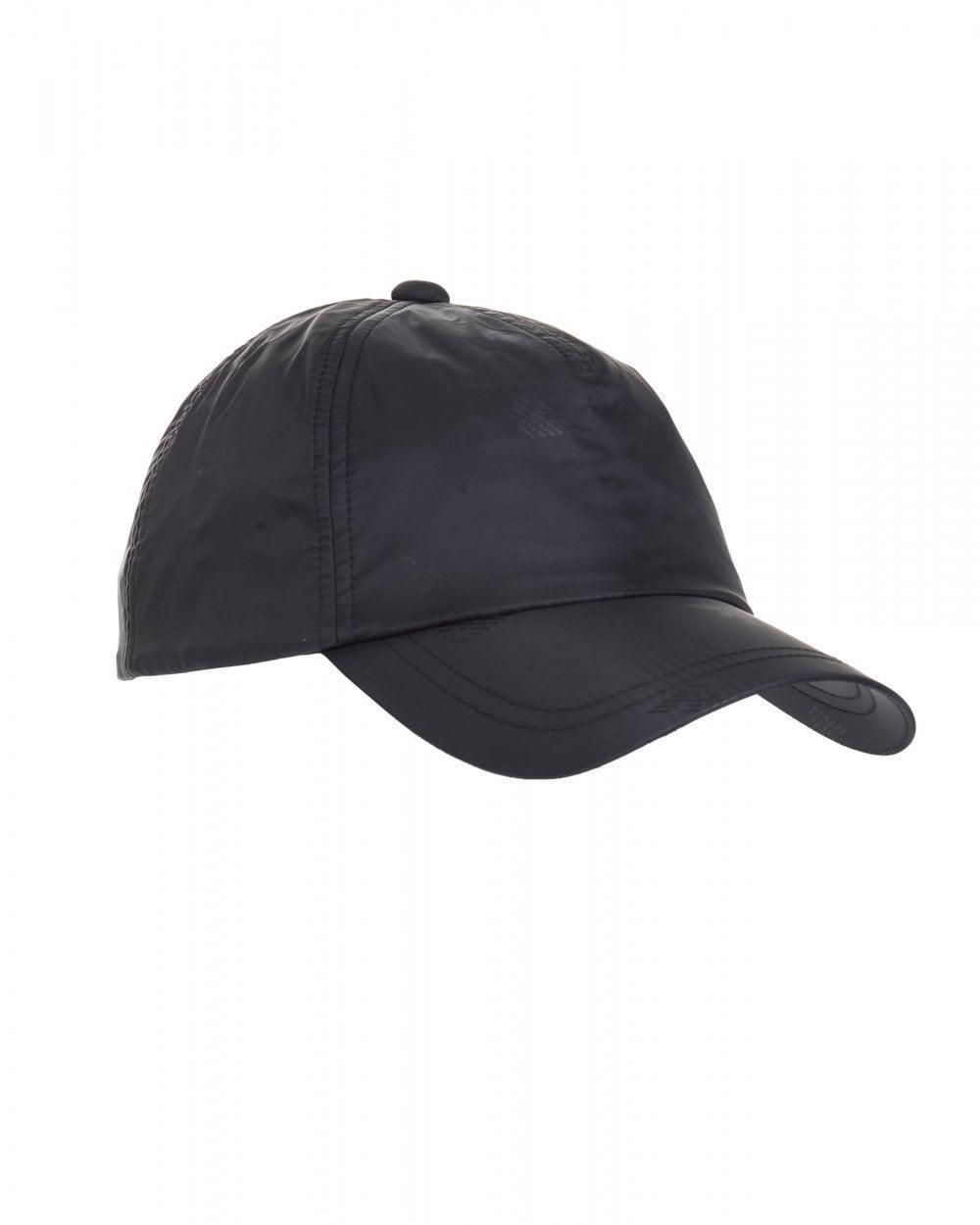 296651bb Lyst - Emporio Armani All Over Logo Baseball Cap, Black Hat in Black ...