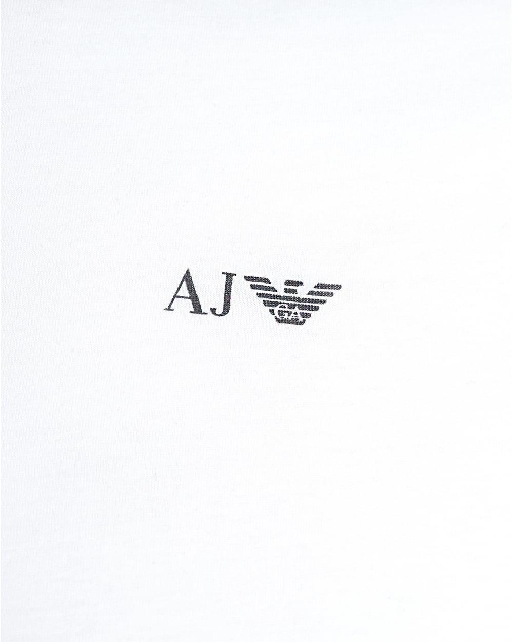 bcdbda7fe Lyst - Armani Jeans White T-shirt, Regular Fit Logo Tee in White for Men