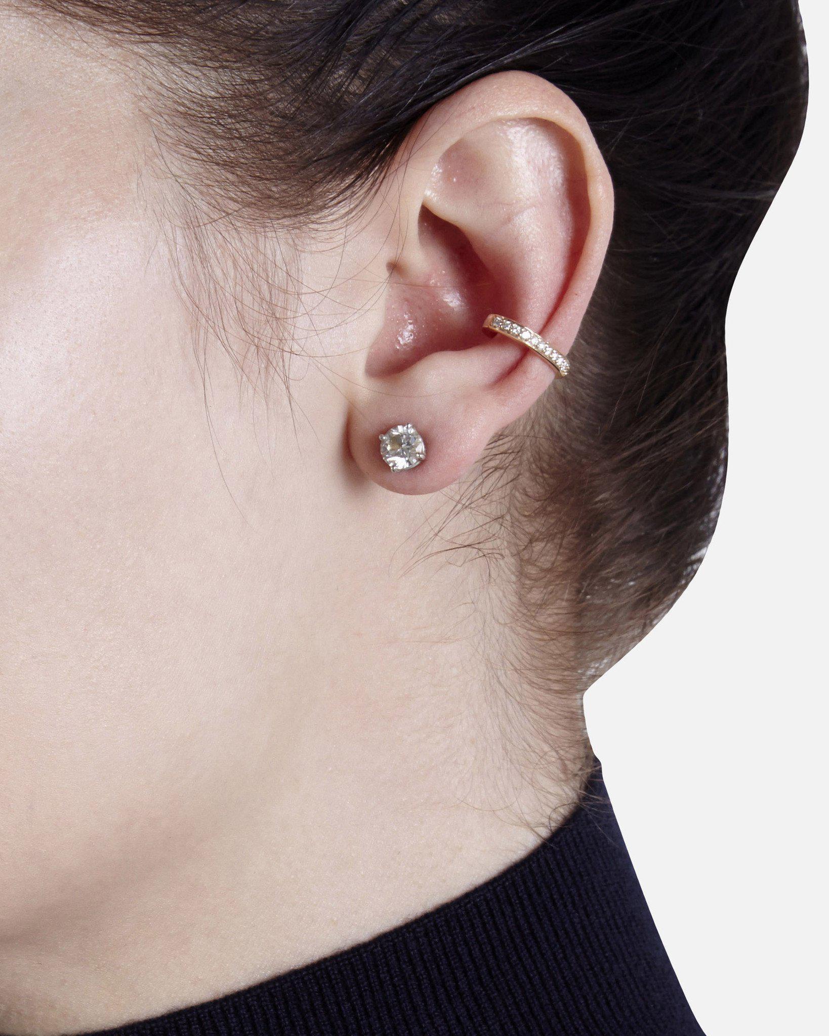 610b0c9ba Anita Ko - Multicolor Single Row Diamond Ear Cuff - Lyst. View fullscreen