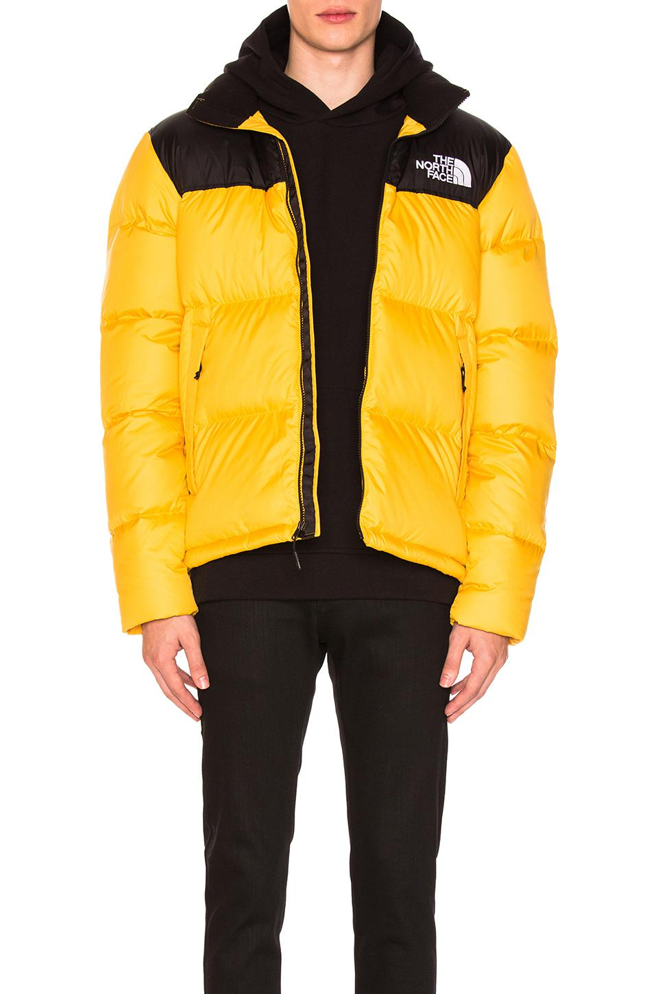 3544a41e5 uk north face puffer jacket all black yellow 52d60 09411