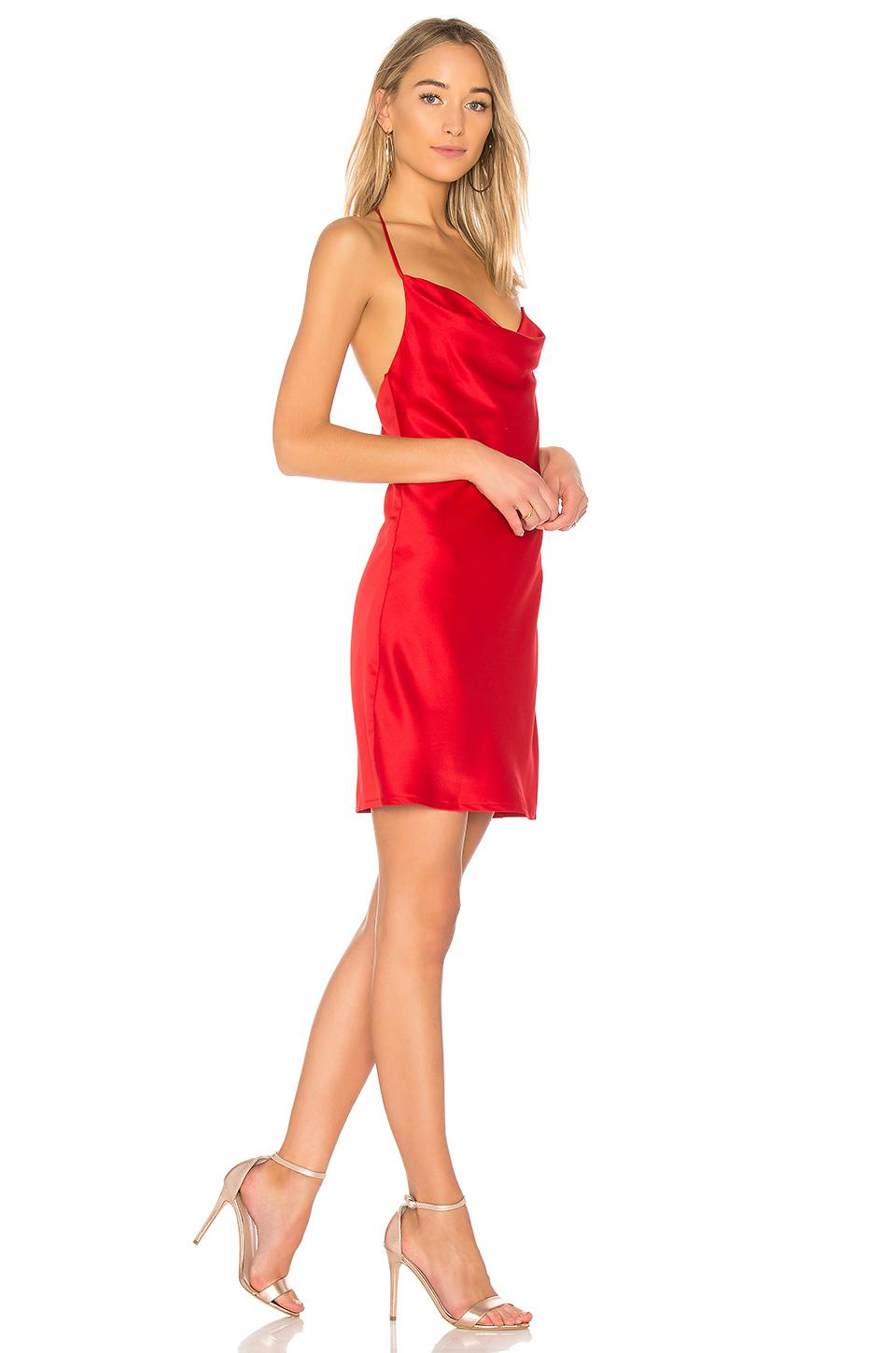 f14d742b499 Wyldr Superstitious Cowl Neck Slip Dress in Red - Lyst