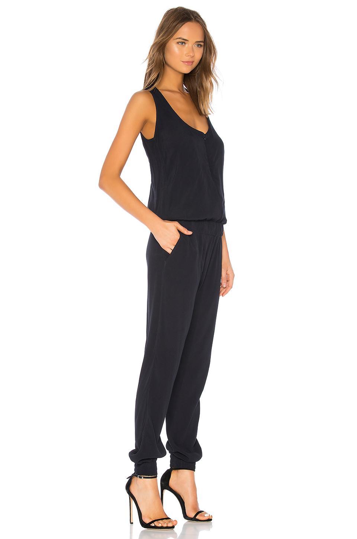 6f0e9af9ae9 Monrow - Black Crepe Jumpsuit - Lyst. View fullscreen