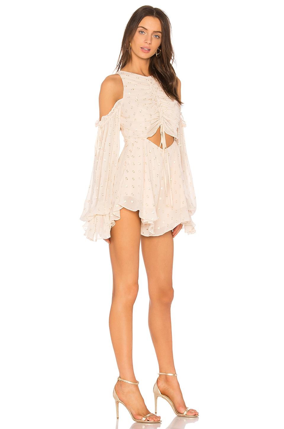 4e3056ebd4c Lyst - Alice McCALL Did It Again Playsuit in Natural