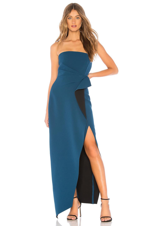 95a19e257c7a8 Lyst - Aijek Camille Bustier Gown in Blue