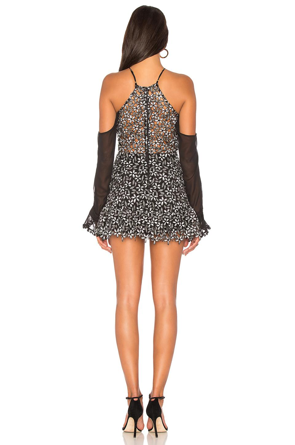 87b6061f479 Lyst - Karina Grimaldi Lia Lace Mini Dress in Black