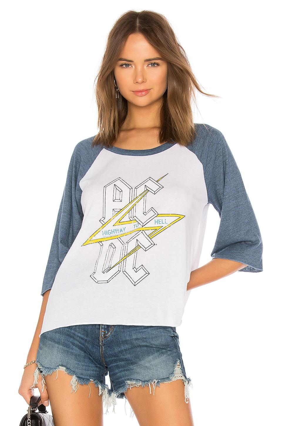 8091affd Lyst - Chaser Ac/dc Highway To Hell Tee in Blue