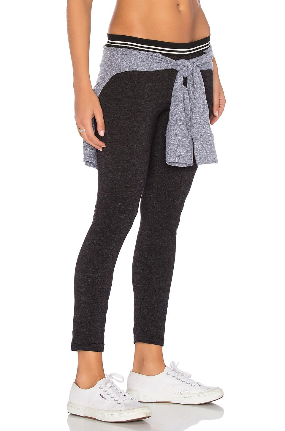 78d6132ea9 Lyst - Monrow Tied Tee Legging in Black