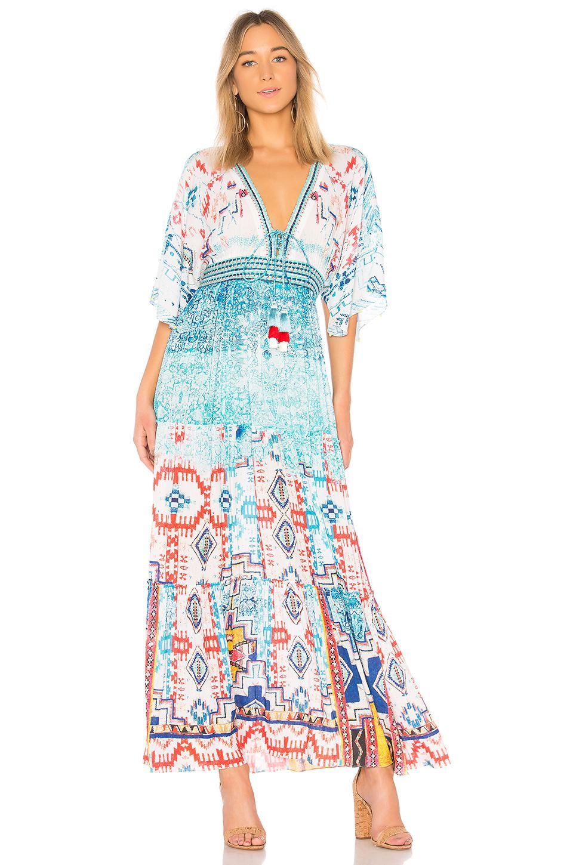 420ee9a8586 Hemant   Nandita Moiety Long Dress in Blue - Lyst