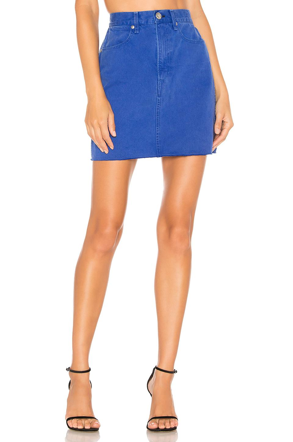 34a977c3a4e6 Lyst - Rag   Bone Moss Skirt in Blue