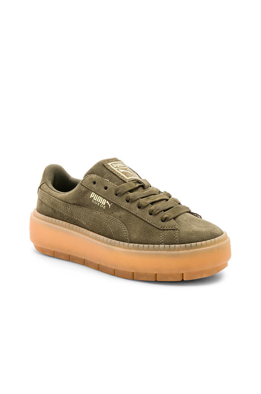 70043311da7a Lyst - PUMA Suede Platform Rugged Sneaker in Green